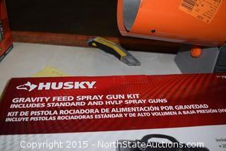 Husky Gravity Feed Spray Gun Kit