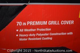"""70"""" Premium Grill Cover, 5 6"""" Adjustable Grates"""