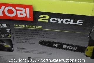"Ryobi 2 Cycle 14"" Gas Powered Chain Saw"