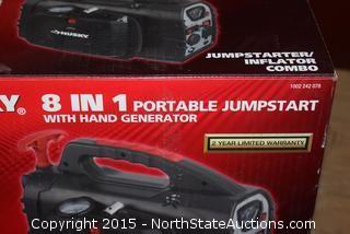Husky 8 in 1 Portable Jumpstart with Hand Generator