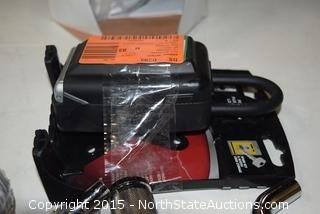 Fiskars Titanium Ratchet Pruner, Portable Push Button Lock Box, Hitches and Bent Pins