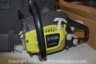 "Ryobi 16"" Gas Powered Chain Saw"