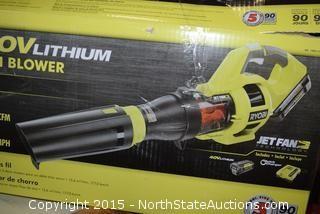 Ryobi 40v Lithium Cordless Jet Fan Blower