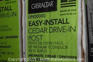 2 Gibralter Cedar Mailbox Posts