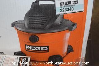 Ridgid 9-Gallon Wet and Dry Vac, Ridgid Fine Dust Vac Filter