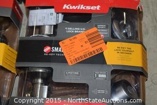 4 Kwikset Handle Sets and Deadbolts