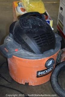Ridgid Buckethead Wet and Dry Vac, 6-Gallon Wet and Dry Vac