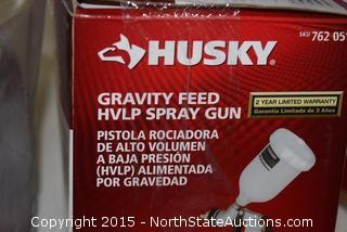 Husky Gravity Feed HVLP Spray Gun