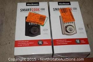 2 Kwikset Smart Code Touchpad Electronic Deadbolts