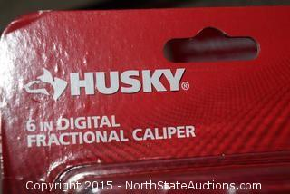 "Husky 6"" Digital Fractional Caliper, Digital Sliding T-Bevel"