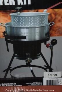 RiverGrille 10-Quart Aluminum Fish Fryer Kit