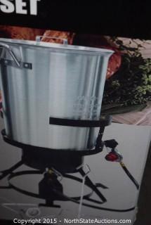 30-Quart Aluminum Turkey Fryer Set