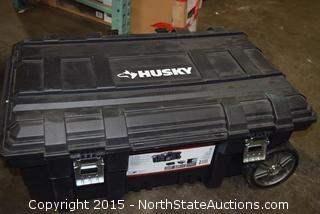 Husky 25-Gallon Mobile Job Tool Box