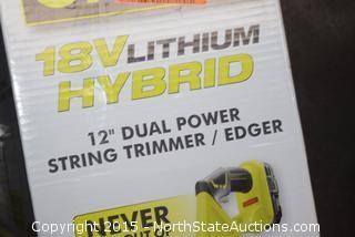 """Ryobi 18v Lithium Hybrid 12"""" Grass Trimmer"""