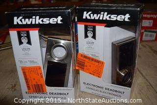 2 Kwikset Electronic Deadbolts