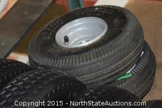 7 Universal Flat Free Dolly Tires/Wheels