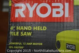 """Ryobi 4"""" Hand Held Tile Saw"""