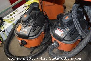 2 Ridgid 4-Gallon Portable Wet and Dry Vacs
