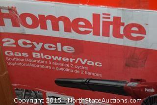 Homelite 2-Cycle Gas Blower and Vac