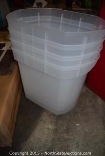 """4 Sterilite 40"""" Wrap Boxes"""
