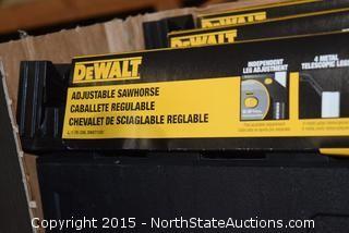 4 DeWalt Adjustable Sawhorses