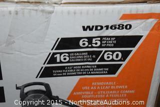 2 Ridgid 16-Gallon Wet and Dry Vacs