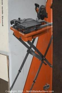 "Ridgid 7"" Portable Job Site Wet Tile Saw With Stand"