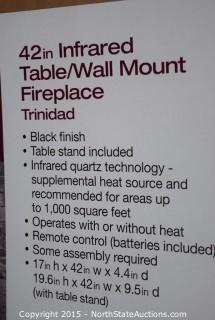 "Home Decorators Collection 42"" Infrared Table/Wall Mount Fireplace"