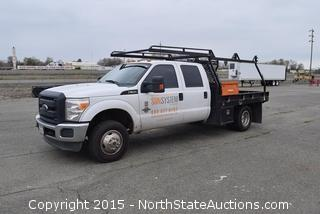 2014 Ford F350 Crew cab Flatbed, Powerstroke 6.7 Diesel