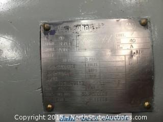 40hp Westinghouse electric motor, Rebuilt.