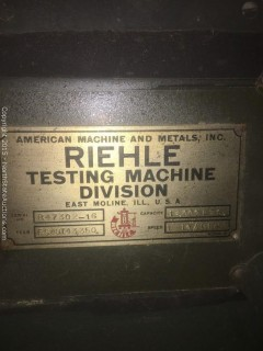 Reihle Testing Machine, Tension and Compression 12000LBS
