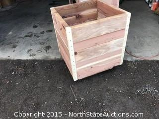 3 Red Wood Planter Boxes