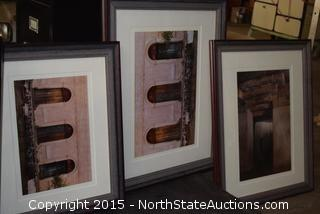 File Cabinet, Westpointe Tower Fan, Sharp Microwave Oven, Flourescent Lights, 3 Framed Pictures
