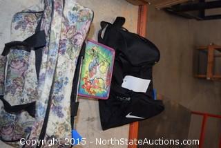 Nike Bag , Lunch Pale , Vintage Overnight Bag