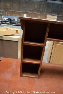 Office Desk With Top Shelves