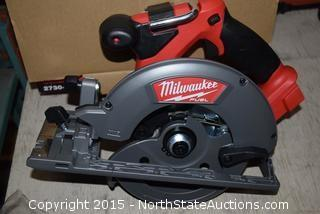 "Milwaukee 6-1/2"" Cordless M18 Fuel Circular Saw"