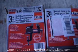 "2 Bessey 3"" Light Duty Clamp-on Vise"
