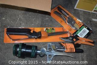 Mixed Lot of Pruning Shears and Spray Nozzles