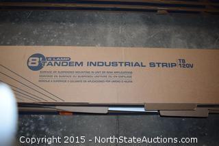 2 Lithonia Lighting 8' Tandem Industrial Strip Lights