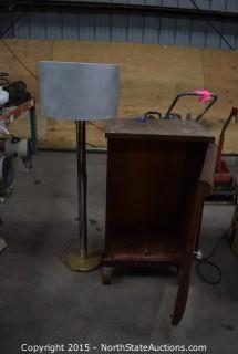End Tables and Lamp