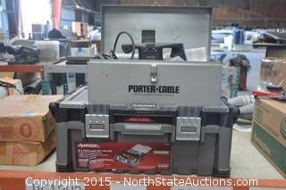 Porter Cable Plate Joiner and Huskey Tool Box