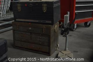 2 Craftsman Tool Boxes and Wolfcraft Press