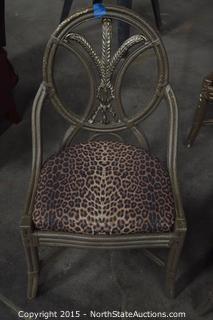 4 Leopard Print Chairs