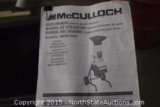 McCulloch Garden Shredder