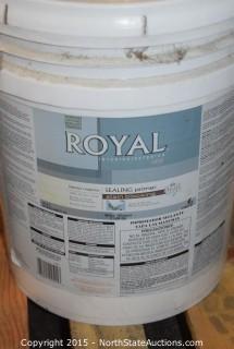 5 5 Gallon Buckets of Paint