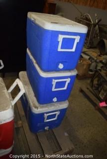 Mixed Lot of Ice Chests