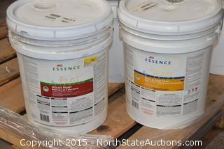 5 5 Gallon Buckets of Paint