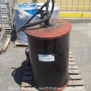 55 Gallon Oil Drum and 5 Gallon Buckets