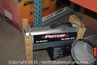 2 Protemp Propane Heaters and Mr. Heater Contractor Heater