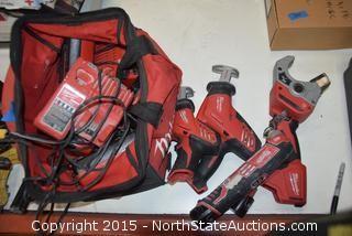 Milwaukee Tool Bags amd Tools